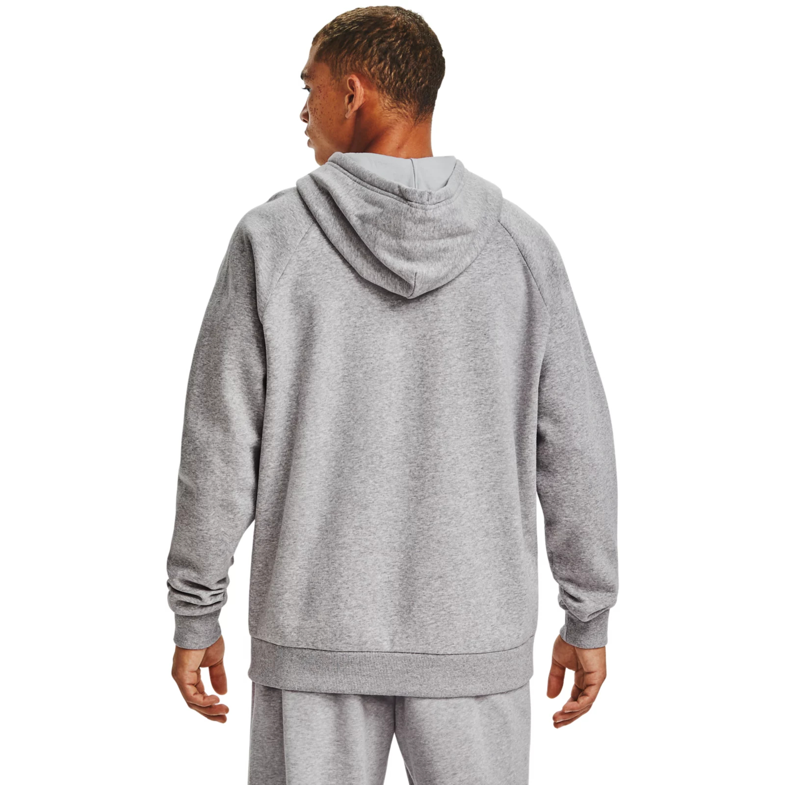 Худи Rival Fleece Big Logo Hoodie Under Armour Серый фото 3