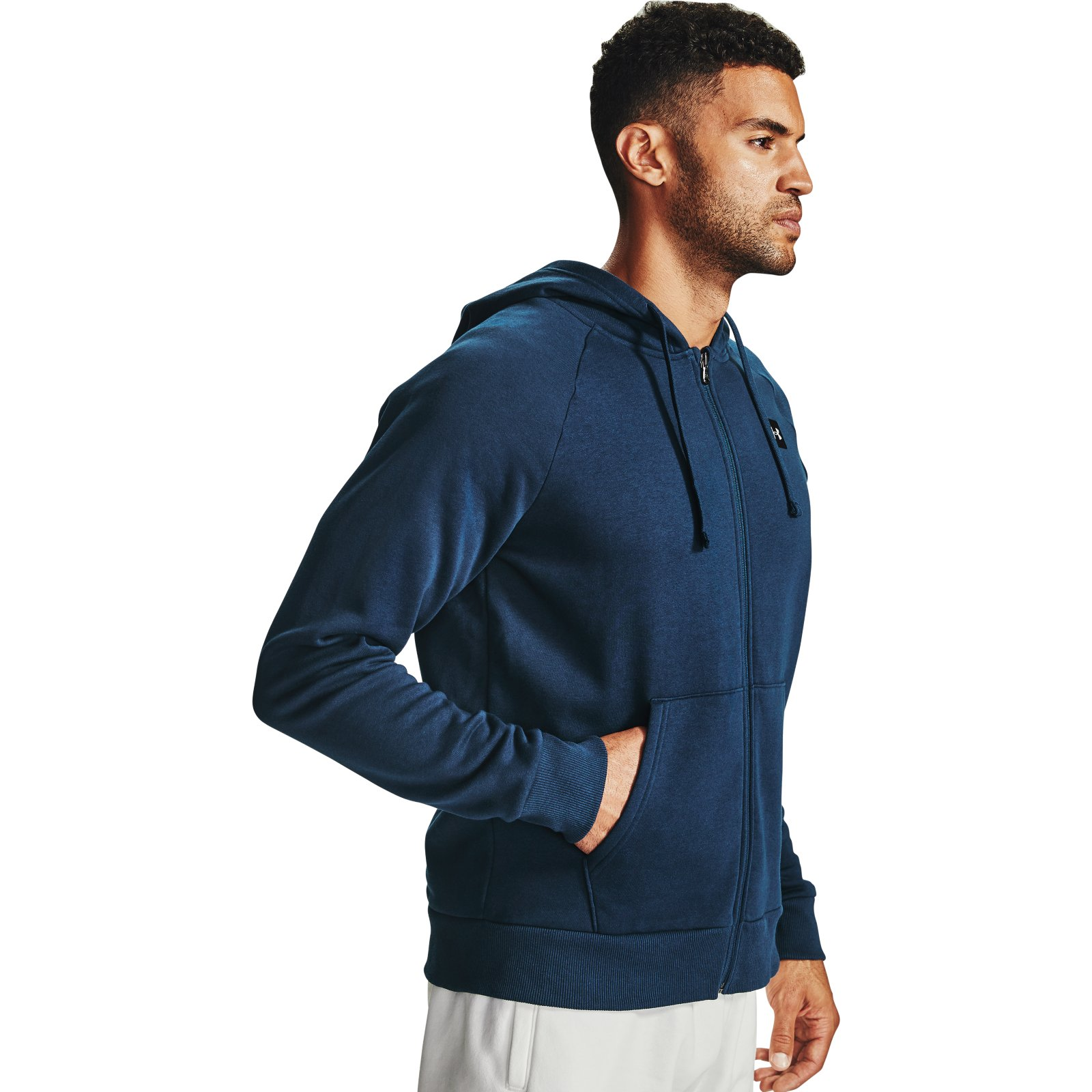 Толстовка Rival Fleece FZ Hoodie Under Armour Синий фото 4