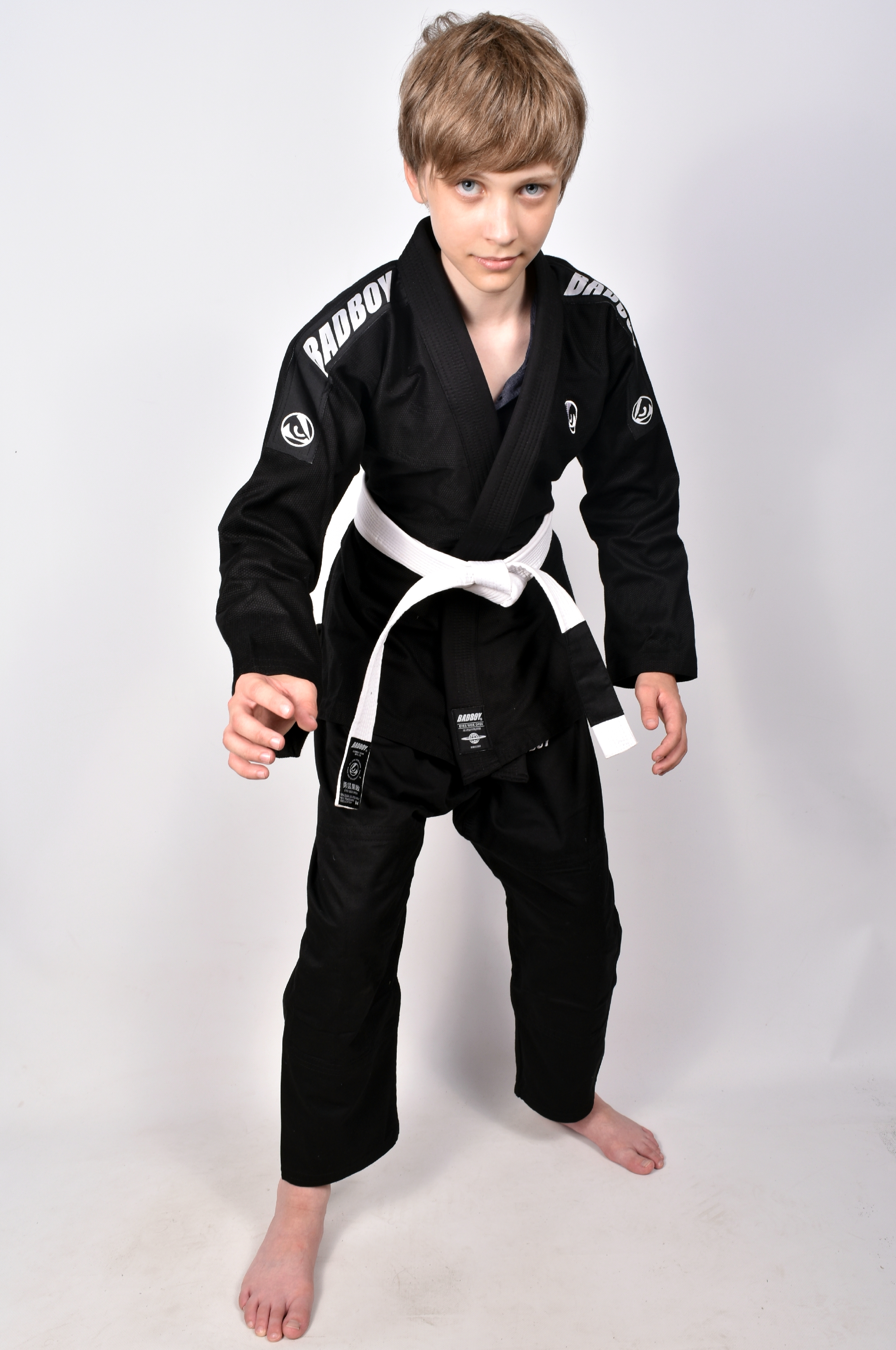 Кимоно Детское Bad Boy Focus BJJ Gi с поясом Black фото 3