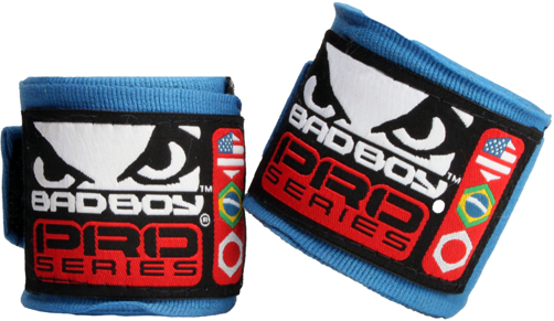 Бинты Bad Boy Hand Wraps 3.5 м Stretch - Blue