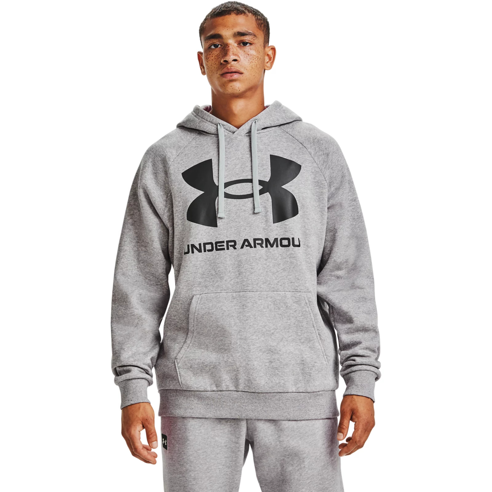 Худи Rival Fleece Big Logo Hoodie Under Armour Серый фото 2