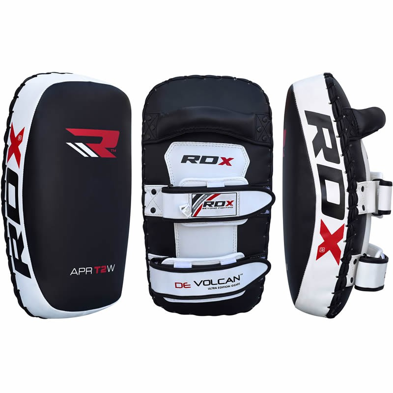 Пэды RDX Thai KickBoxing Leather Strike Pads - Black 1 шт