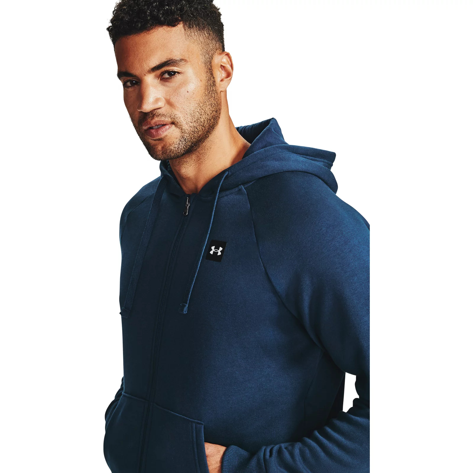 Толстовка Rival Fleece FZ Hoodie Under Armour Синий фото 9