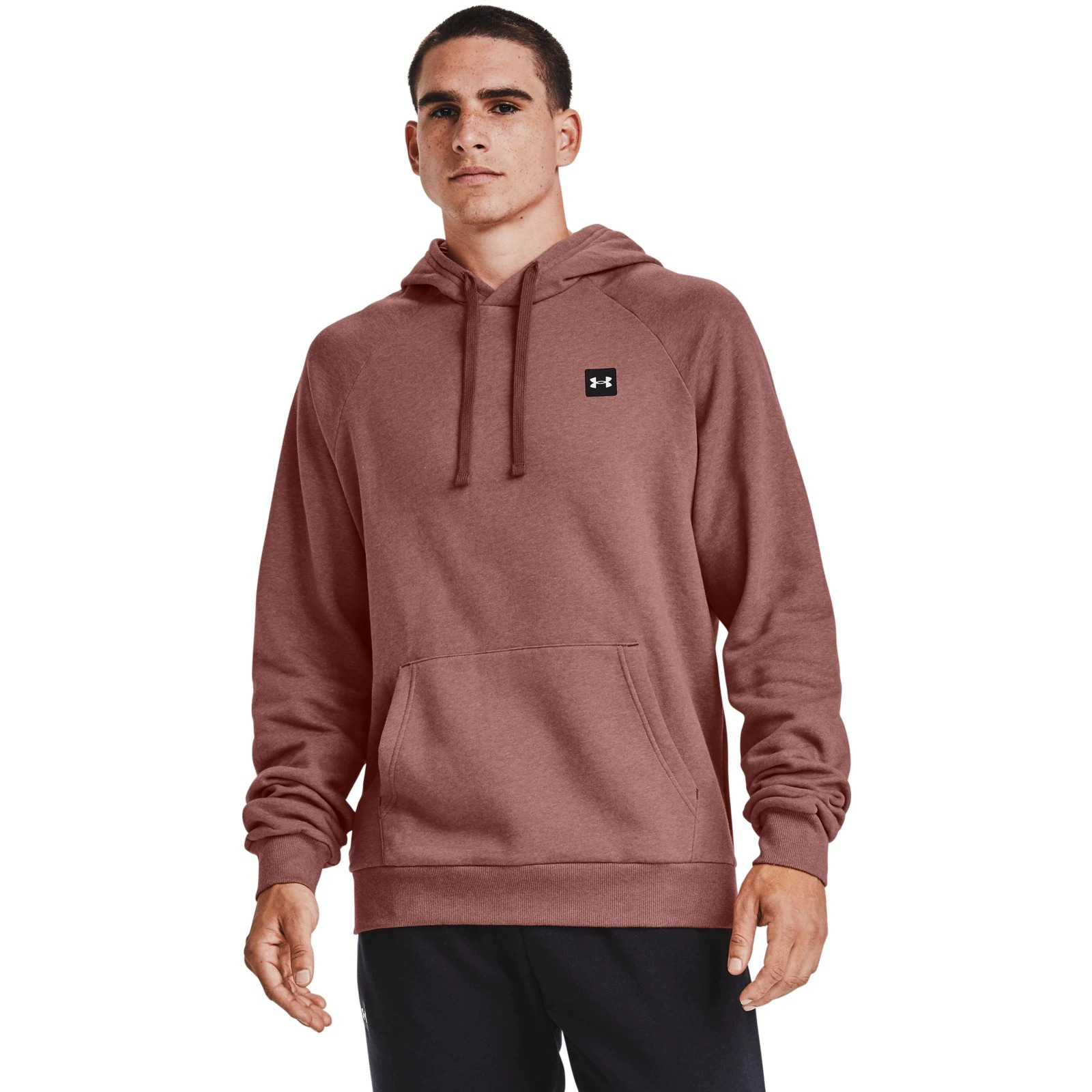 Худи Rival Fleece Hoodie-RED Under Armour Розовый