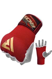 Быстрые бинты RDX Inner Hand Wraps Gloves Boxing Red